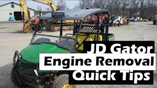 5. JD gator engine removal tipster