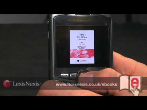LexisNexis eBooks Demo - Blackberry