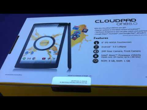 CloudFone CloudPad One 8.0 Quick Unboxing