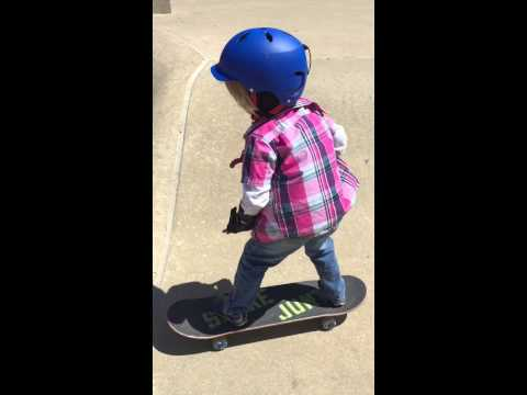 Baby J - Age 6 - McHenry Skate Zone, IL - April 2015 - Skateboarding