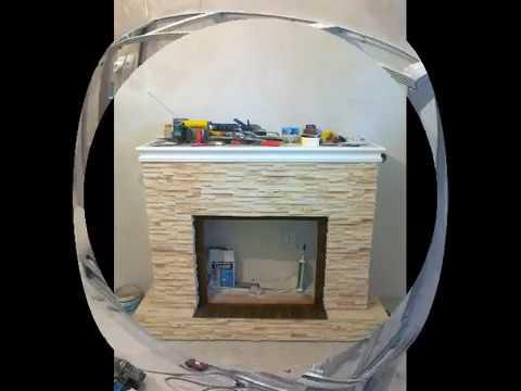 Как из гипсокартона сделать портал для камина своими руками