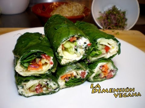 Bocadillos crudos - Green wraps