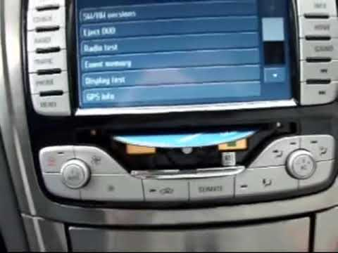 Ford Mondeo (UK) DVD navigation - how to get the DVD out