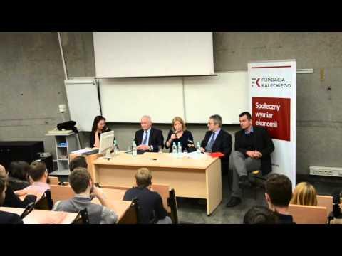 """Debata w ramach projektu """"Kapitał w Polsce w XXI wieku"""" realizowanego przez Fundację Kaleckiego przy wsparciu Narodowego Banku Polskiego"""