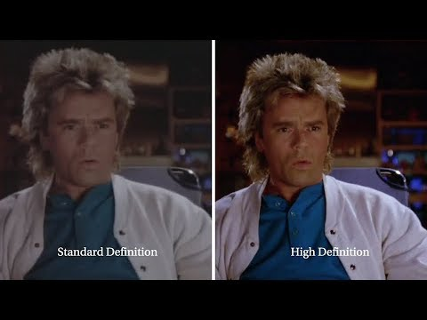 MacGyver HD Remaster By CBS (First Glance Side-by-Side Comparison)