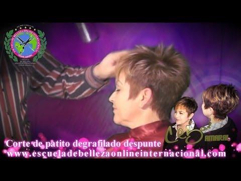 Corte de cabello patito version 2013 degrafilado desvanecido y texturizado