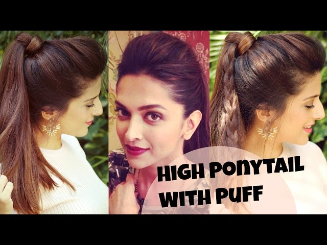 Easy Hairstyle For Daily Use : Easy everyday high ponytail hairstyles with puff for