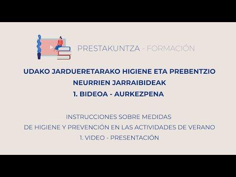 UDAKO JARDUERETARAKO HIGIENE ETA PREBENTZIO JARRAIBIDEAK - 1. Aurkezpena eta helburua