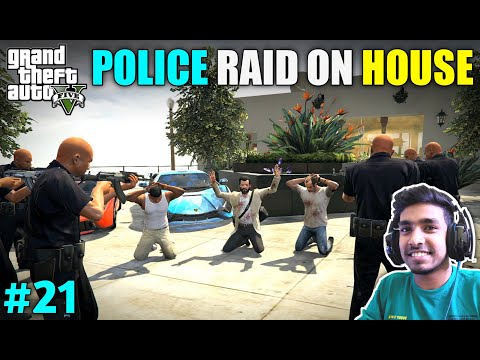 POLICE RAID ON MICHAEL'S NEW HOUSE | GTA V GAMEPLAY #21
