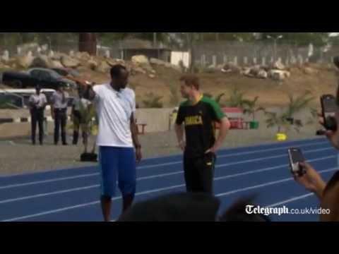 Súboj v šprinte: Princ Harry vs Usain Bolt