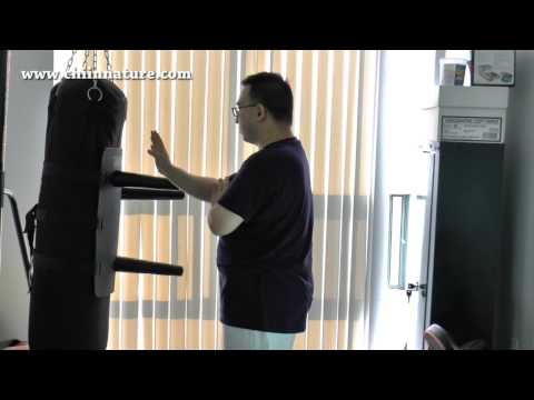 Wing Chun Attachmate Assembly and Demonstration (Solid, Non Swinging Wooden Dummy)