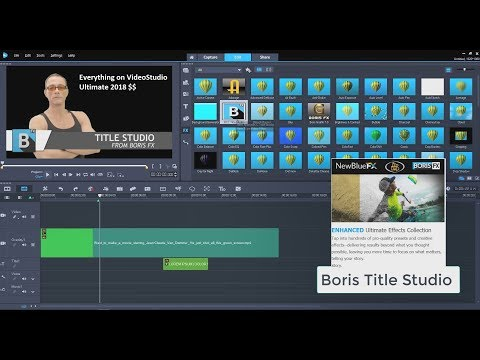 Everything on VideoStudio Ultimate 2018 Purchased Version Titler Pro 5 And Boris Title Studio