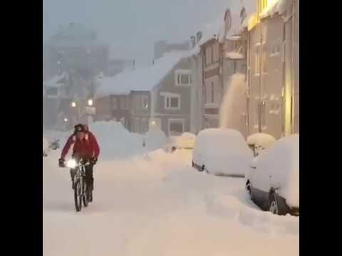 Il centro norvegese investito da una violenta nevicata nei giorni scorsi