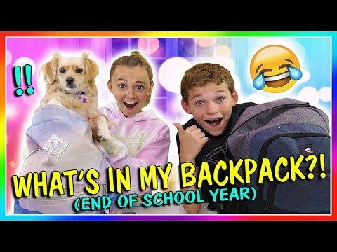 WHAT'S IN MY BACKPACK? - END OF SCHOOL   We Are The Davises
