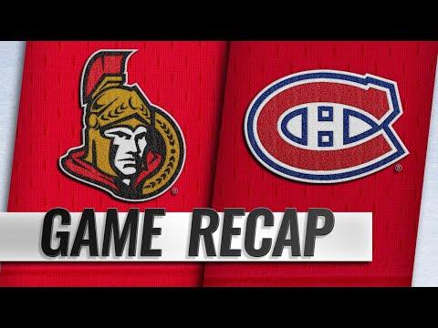 Habs score two quick goals in the 3rd, edge Senators (видео)