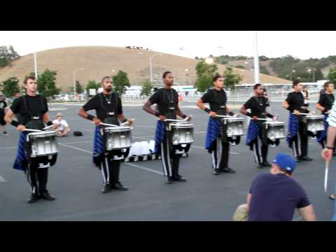 Lot - Blue Devils Drumline 2012 in the lot at Mt. Sac on June 30, 2012.