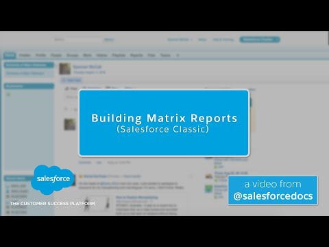 Building Matrix Reports