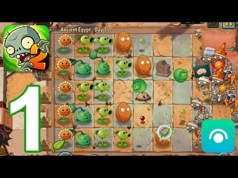 Plants vs. Zombies 2 - Gameplay Walkthrough Part 1 - Ancient Egypt: Days 1-3 (iOS, Android)