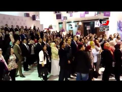 اللحظات الأخيرة من مؤتمر الشباب الأول بشرم الشيخ.. «تحيا مصر»