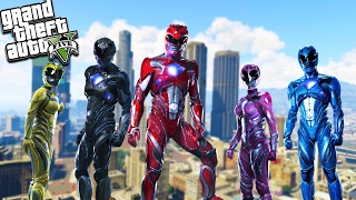 GTA 5 Power Rangers Mod! Epic Fighting & Super Powers! (GTA 5 Mods)