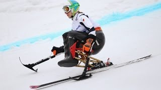 Anna Schaffelhuber (2nd run) | Women's super combined sitting | Alpine skiing | Sochi 2014