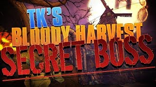 Today I will be showing you a Secret Boss with in Tks Bloody Harvest! His name is Clark the Combusted CryptKeeper and he is a Easter Egg type boss with certain steps you will need to take. Here are the steps in a nutshell.Step 1. Kill the Pumpkin Kingpin (Jacques O' Lantern) Step 2. Sacrifice your weaponsStep 3. Find the 6 pumpkins for the Church of the DeadStep 4. Activate the 3 TvsStep 5. Kill Clark