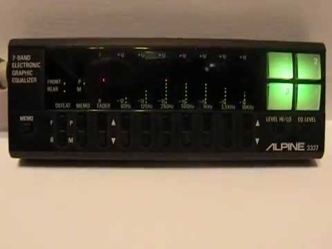 Alpine 3337 7-Band Electronic Graphic Equalizer - Circa 1986