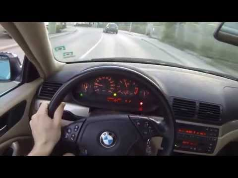 POV BMW 323ci E46 powerslide on corner exit