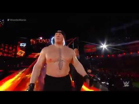 Video WrestleMania 2018   Goldberg vs Brock Lesnar, FULL MATCH download in MP3, 3GP, MP4, WEBM, AVI, FLV January 2017