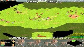 2vs2 HeHe,MeoMeo vs Sướng Tưởng, Tiểu Mãnh Mã, 2/8/2015 -  Trận 2, game đế chế, clip aoe, chim sẻ đi nắng, aoe 2015