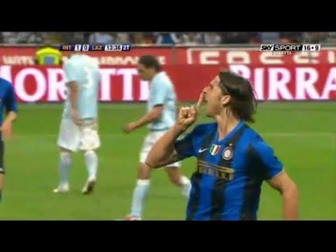 Zlatan Ibrahimović   Inter 2-0 Lazio   2008-09 Serie A Giornata 34