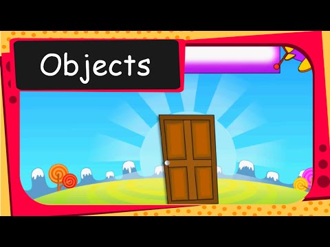 Let's learn the names of common objects - English
