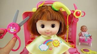 Video Baby doll hair shop toys play with Pororo MP3, 3GP, MP4, WEBM, AVI, FLV Agustus 2017