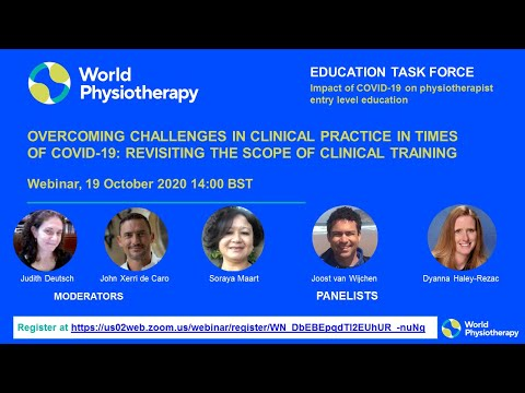 Webinar: Clinical training and overcoming challenges in clinical practice in times of COVID-19