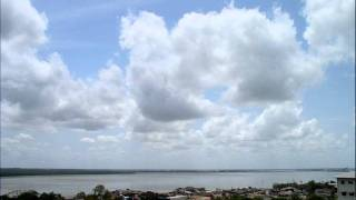 Cumulonimbus and heavy rain visible from Darwin, Australia (time-lapse) - October 26, 2011
