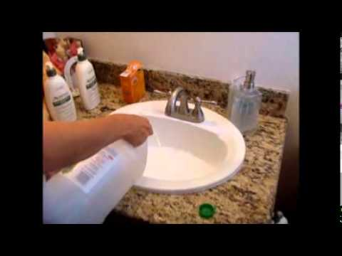 how to clean a kitchen sink drain