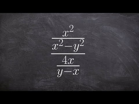 Dividing two rational expressions