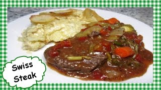 This crock pot slow cooker SWISS STEAK recipe is easy and good. I love these one pot crock pot recipes. The Swiss steak is ...