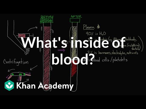Blood - Spin down your blood and find out what it's made up of. Rishi is a pediatric infectious disease physician and works at Khan Academy. These videos do not prov...