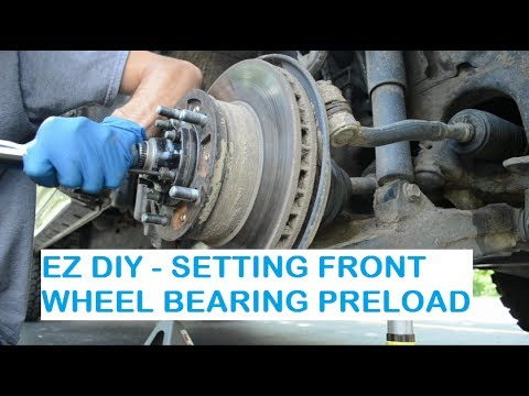 How-To Front Wheel Bearing Preload Lexus Lx470 / Toyota Land Cruiser UJZ-100