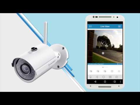 WiFi App Setup for Amcrest Outdoor Bullet 2MP IP Camera (IP2M-842)