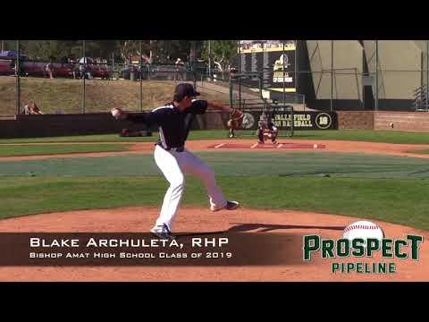 Blake Archuleta Prospect Video, RHP, Bishop Amat High School Class of 2019