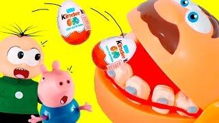 Senhor bocão Play doh come kinder ovo do Cebolinha e George P...
