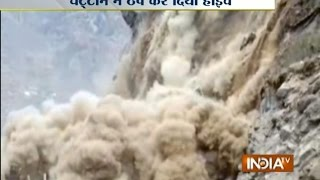 Joshimath India  city pictures gallery : Watch Massive Landslide Caught on Camera in Uttarakhand's Joshimath