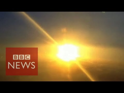 explosion - Subscribe to BBC News HERE http://bit.ly/1rbfUog The pilot of a light aircraft captured the moment a rocket exploded just after launching in Virginia. The unmanned rocket was supposed to be...
