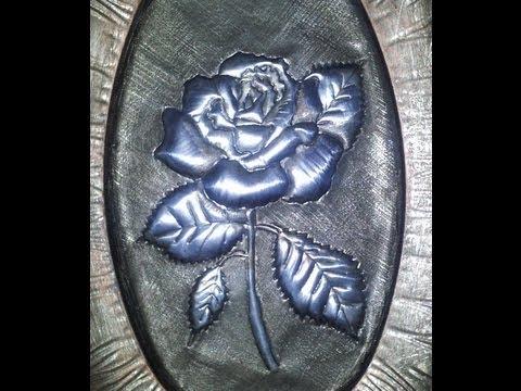DIY ROSA PLATEADA, HOW TO DO A SILVER ROSE