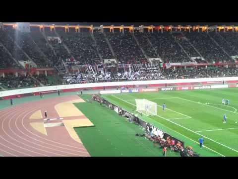 Hinchada mundialista club de fútbol monterrey  Marruecos 2013 HD - La Adicción - Monterrey
