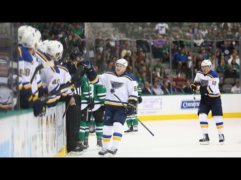 records - St. Louis Blues forward Vladimir Tarasenko records his first career hat trick with an overtime winner past Dallas Stars goalie Kari Lehtonen.