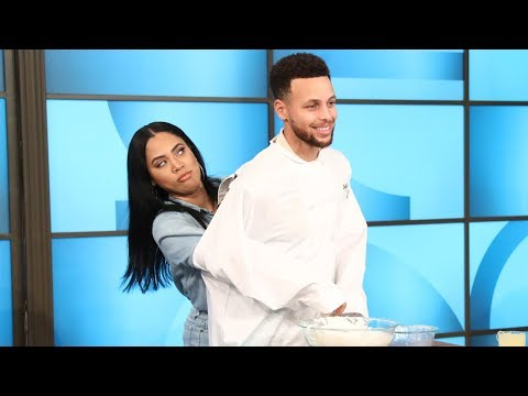 NBA Star Steph Curry Gets Helping Hands from Wife Ayesha While Cooking on The Ellen