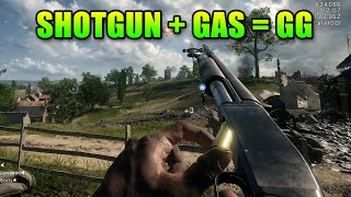 Loadout Battlefield 1 Shotgun & Gas Grenade PWN! | Model 10-A Gameplay
